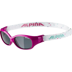Alpina Sports Flexxy Glasses Kinder pink-dots